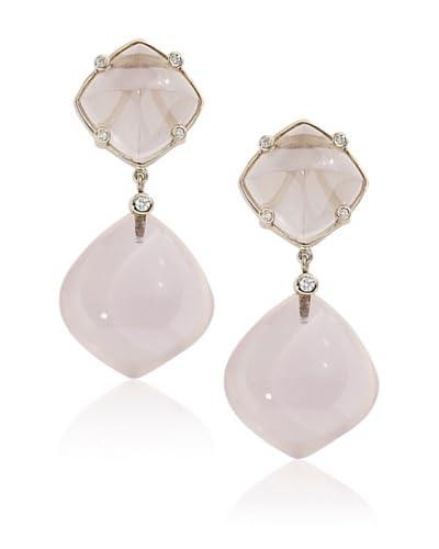 Jenny Perl Rose Quartz Drop Earrings
