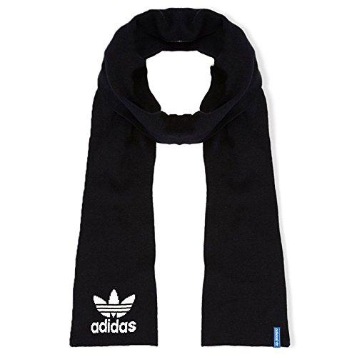adidas Originals - Strickschal für den Winter - Trefoil-Logo - Schwarz - Einheitsgröße