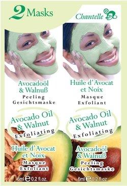 Chantelle Avocado Oil & Walnut Exfoliating Face Masques 2 x 6ml