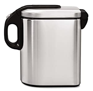simplehuman Small Slim Canister, Stainless Steel, 1.5 L / 1.6 Qrt