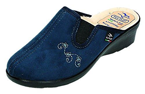 Fly Flot, Pantofole donna Blu blu, Blu (blu), 37