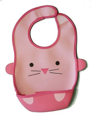 Babyb.Ee Soft Waterproof Adjustable Pocket Feeding Bib/Food Catcher For Infants And Toddlers (Chrissy The Little Pink Cat) front-904090