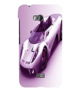 printtech Superfast car Back Case Cover for Micromax Bolt Q336