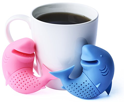 Happy Shark Tea Infuser - 100% Food Grade Silicone Tea Filters for Loose Leaf Tea, Set