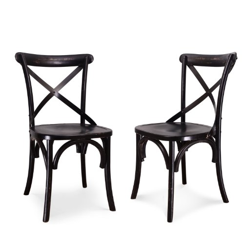 Joveco Vintage style solid wood dining chair - set of 2 0