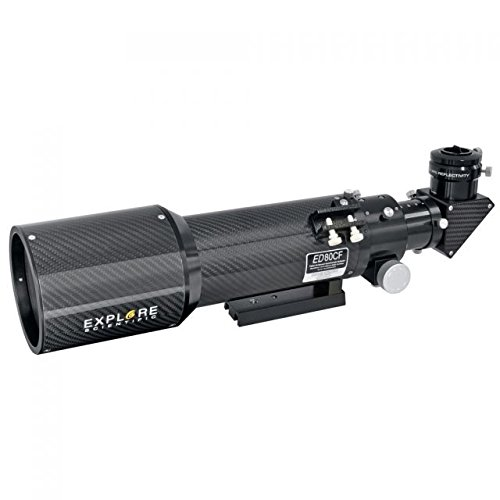 Explore Scientific Ed80 F/6 Air-Spaced Triplet Carbon Fiber Refractor Telescope Edt-0806-Cf
