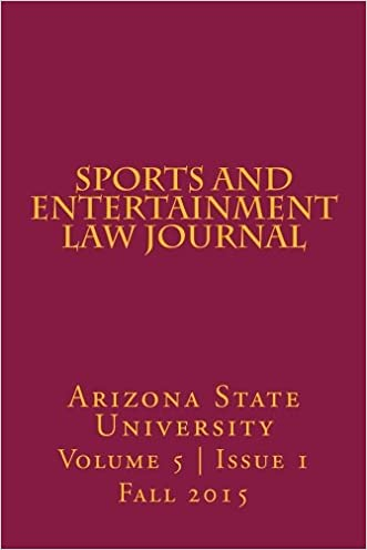 Arizona State Sports and Entertainment Law Journal: Volume 5, Issue 1, Fall 2015
