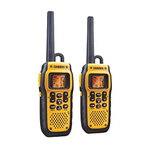 Uniden GMR2872-2CK 28-Mile 22-Channel FRS/GMRS Waterproof Two-Way Radio (Yellow)
