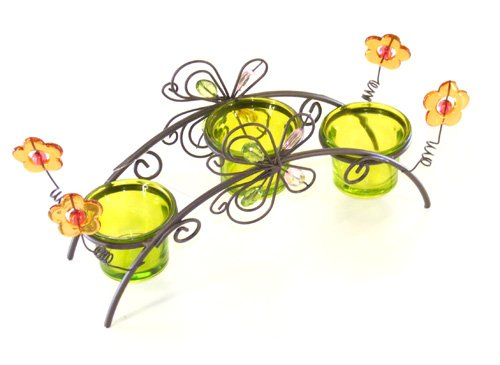 Garden tea light candle holder