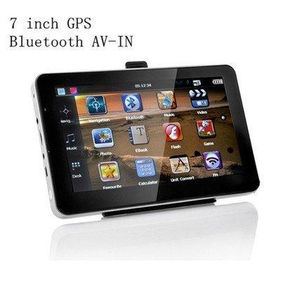 "LBB-tech 7"" 8GB Car GPS Navigation + Wireless Rear view Camera Bluetooth AV-IN Free Map"