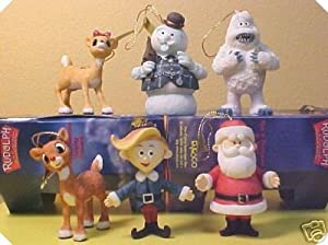 #!Cheap Enesco Rudolph And The Island Of Misfit Toys 6 Hanging Ornaments