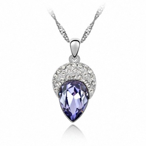 TAOTAOHAS- [ Search Name: Soft Beauty ] (1PC) Crystallized Swarovski Elements Austria Crystal Pendant Necklace, 18KGP Marked, Made of Alloy Plated with 18K True Platinum / White Gold and Czech Rhinestone