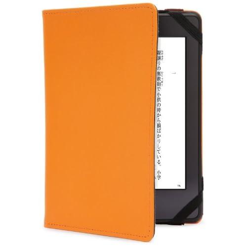 BUFFALO Kindle Paperwhite専用 レザーケース オレンジ BSTPKDT12LOR