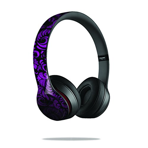 Mightyskins Protective Vinyl Skin Decal Cover For Dr. Dre Beats Solo2 Headphones Sticker Skins Purple Style