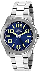 Invicta Men's 21443SYB Specialty Analog Display Quartz Silver Watch