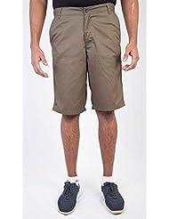 Light Brown Men Cotton Shorts