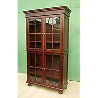 D-ART Henredon Glass Bookcase Cabinet - in Mahogany Wood