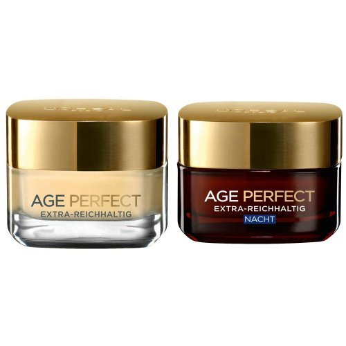L'Oréal Paris Dermo Expertise Age-Perfect Extra Reichhaltig, 50 ml + L'Oréal Paris Dermo Expertise Age-Perfect Extra-Reichhaltig Nacht, Reparierende Intensivpflege, 50 ml thumbnail