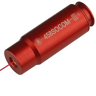 GRG 458 SOCOM Laser Bore Sighter Boresighter Aluminum 6061 T6 Anodized Red Color from GRG MFG
