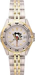 NHL Pittsburgh Penguins Ladies All Star Watch Stainless Steel Bracelet by Logo Art