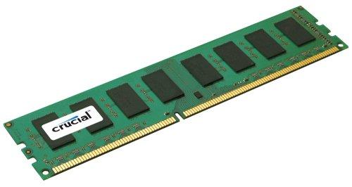 Crucial Technology  2 GB 240-Pin DIMM DDR3 PC3-10600 Unbuffered ECC DDR3-1333 1.5V Memory (CT25672BA1339)