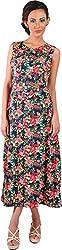Mabyn Women's A-Line Dress (SSSSD18 _L, Black, L)