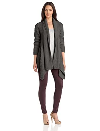 Pure Handknit Women's Lucena Waterfall Cardigan Sweater, Scooter Charcoal, X-Small/Small