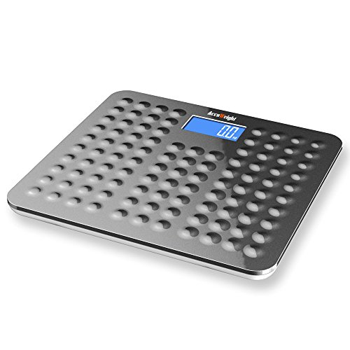 Accuweight digitale Anti-Rutsch Personenwaage mit großem LCD-Display