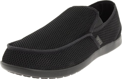 crocs Men's Santa Cruz Rx Slip-On,Black/Black,10 M US