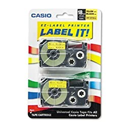 CSOXR18YW2S - Casio Tape Cassettes for KL Label Makers by Casio