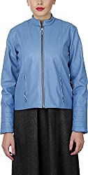 Baba Rancho Women's Regular Fit Jacket (Lj 00207_S, Sky Blue, S)