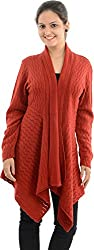 Apsley Women's Acrylic Shrug (670 red_M, Red, M)
