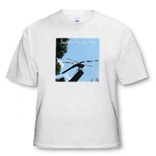 Dragonfly Inspires Imagination - Adult T-Shirt 5XL