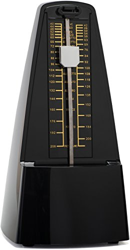best-traditional-mechanical-metronome-for-musicians-swinging-pendulum-and-beat-bell-plastic-black-co