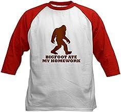 CafePress Kids Baseball Jersey - Bigfoot Ate My Homework Baseball Jersey