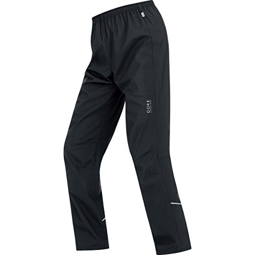 GORE RUNNING WEAR, Pantaloni Corsa Uomo, Antivento, GORE WINDSTOPPER Active Shell, ESSENTIAL WS AS, Taglia M, Nero, TWESSM990004