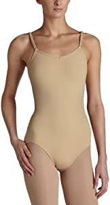 Capezio Women's Camisole Leotard With Adjustable Straps,Nude,Small