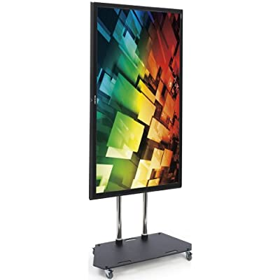 Vertical Mount TV Stand with Wheels, Free-Standing, Tilting and Height