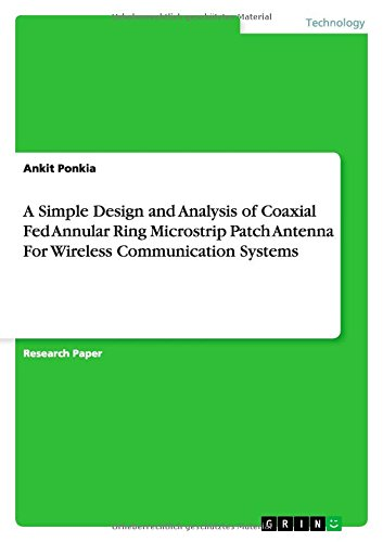 A Simple Design and Analysis of Coaxial Fed Annular Ring Microstrip Patch Antenna for Wireless Communication Systems PDF