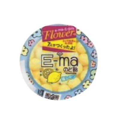 UHA味覚糖 e-maのど飴 フラワー (塩レモン) 33g 6コ入り
