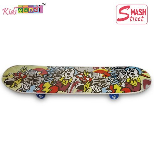 Kids-MandiTM-Smash-Street-Printed-Skateboard-Kids-Scooter-Imported-Wooden-Best-for-All-Ages