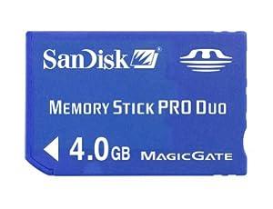 SanDisk 4GB Memory Stick PRO Duo Flash Memory Card SDMSPD-4096-B35- Retail packaging