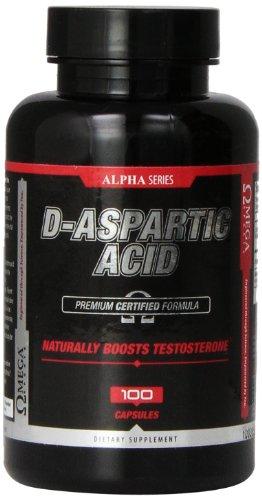 Omega Sports D-Aspartic Acid Capsules, 100 Count