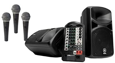 Yamaha StagePAS 400i Portable PA System with 3 Free Microphones Pure Resonance Audio Ultra-Clear UC1S from YAMAHA
