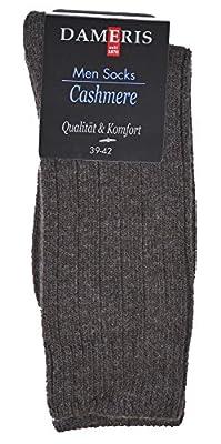 2 Paar Kaschmir Cashmere Luxus Socken für Herren mit 82% Naturfasern in verschiedenen Farbkombinationen, Gr. 39-42 oder 43-46