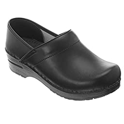Dansko Women\'s Wide Professional Clog,Black Box,37 W EU / 6.5-7 D(W) US