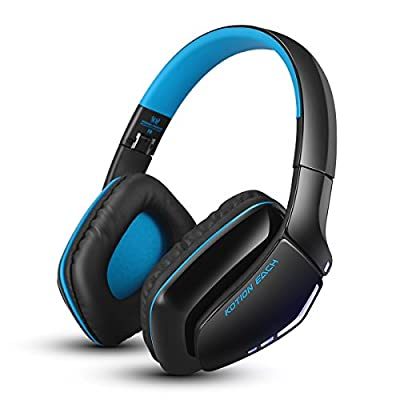 FOXIN KOTION EACH V4.1 Bluetooth Headphones Foldable Wireless Gaming Headset with Mic for PS4 PC Mac Smartphones Computers