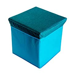 Pindia Foldable Aqua Stool With Lid And Storage Box