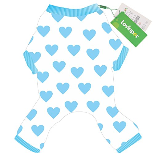 LovinPet Cute Pet Apparel for Dogs | Cozy Cotton Pet Clothing for Small Dogs | XXS Dog Clothes, XS Dog Clothes & Medium Funny Dog Clothes (Blue, Male or Female Dog Clothes) -S (Thermal Pet Pajamas compare prices)