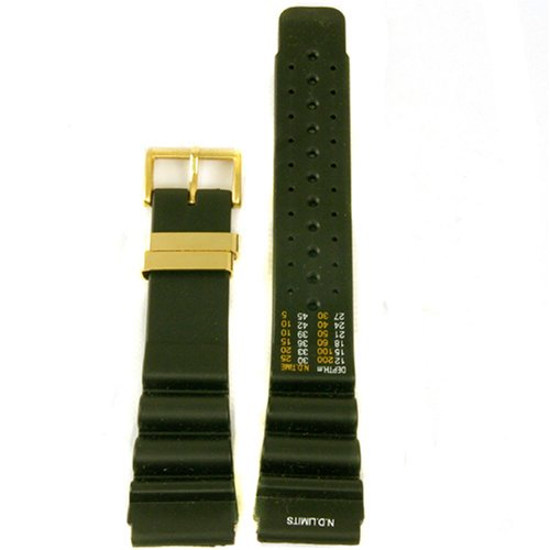 CITIZEN Watch:Watch Band Replacement Rubber Plastic Black To Fit Dive Sport Watch 24mm Images